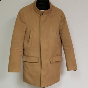 Zara Beigen 3/4 length coat with removable liner